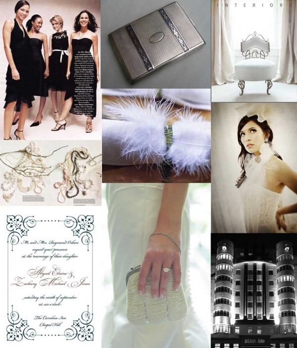 Black-White-Gray-Art-Deco-Wedding-Inspiration-Board