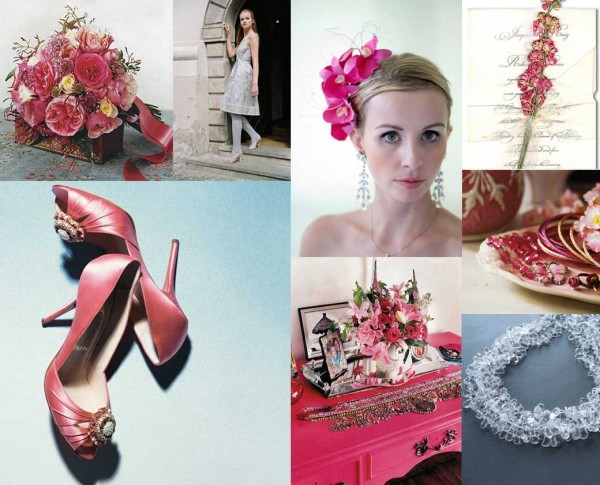 Hot-Pink-and-Gray-Wedding-Inspiration-Board