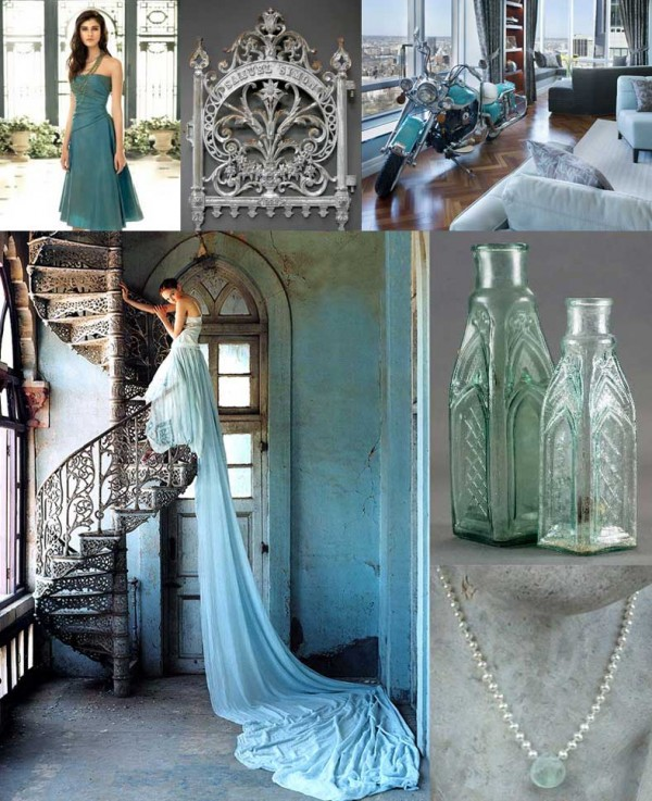 Turquoise-Gray-Modern-Wedding-Inspiration-Board