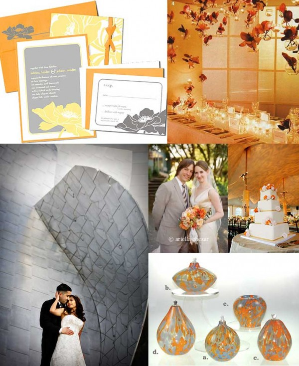 Modern-Orange-Gray-Wedding-Inspiration