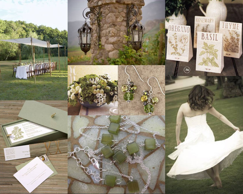 green and brown rustic wedding ideas