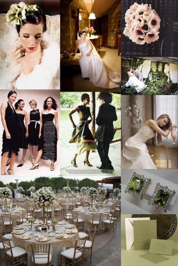 Vintage Olive Green And Black Wedding Ideas