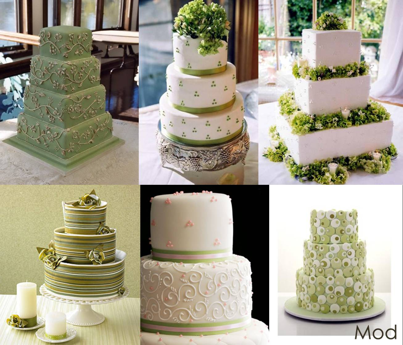 Green Cakes - Elizabeth Anne Designs: The Wedding Blog
