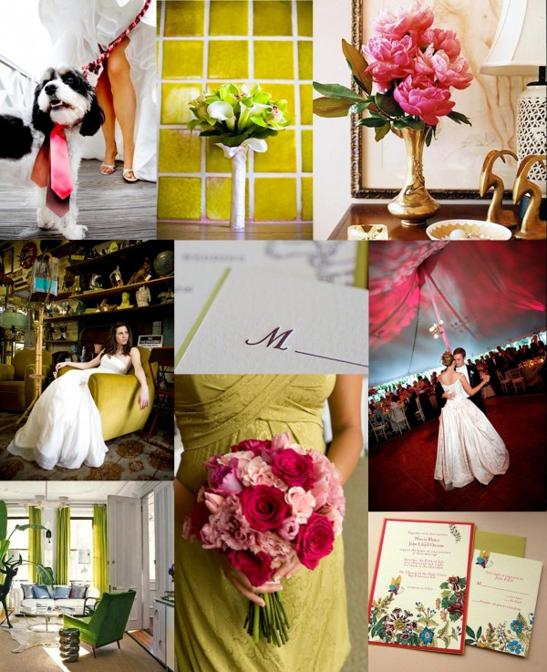 Raspberry-Chartreuse-Wedding-Inspiration-Board
