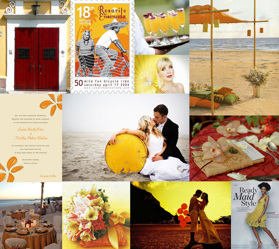 Red Yellow Mexican Wedding Ideas