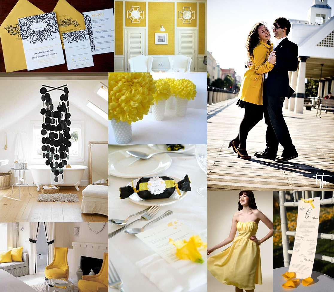 Black, White, and Yellow - Elizabeth Anne Designs: The Wedding Blog