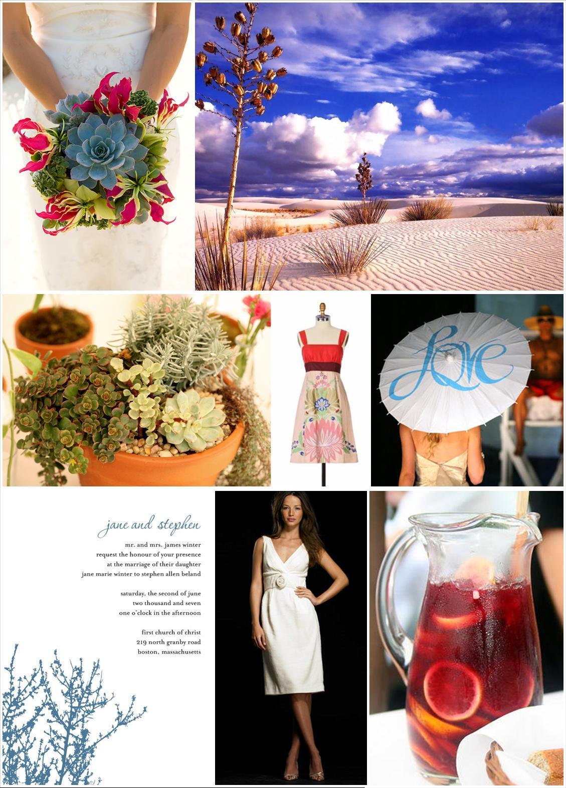desert wedding inspiration board