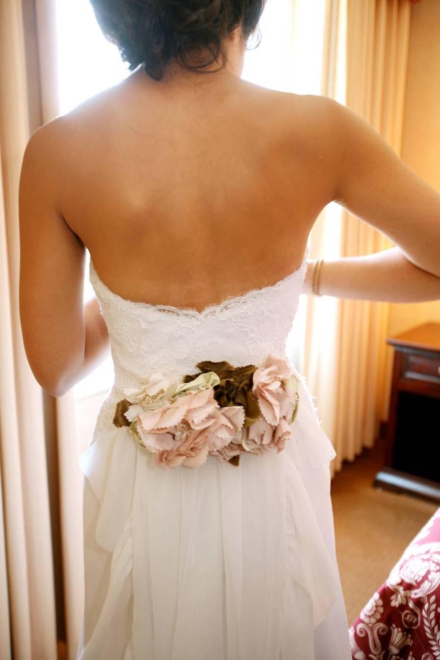 elizabeth dye gown with flowers