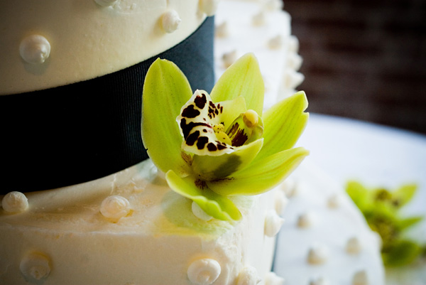 chartreuse orchid cake