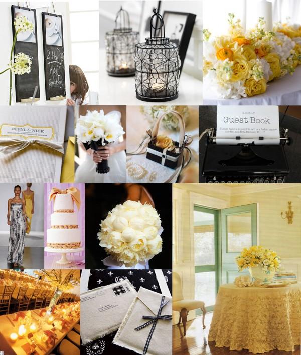 Black-Yellow-White-Wedding-Ideas