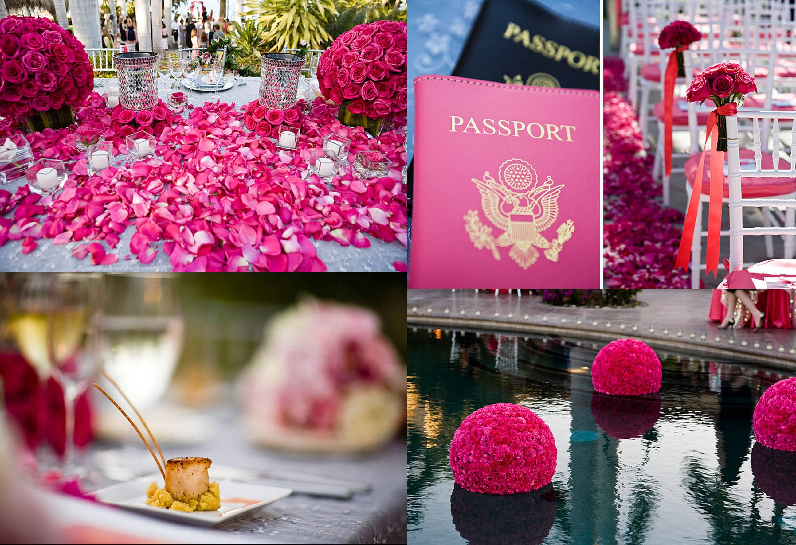 pink floral details