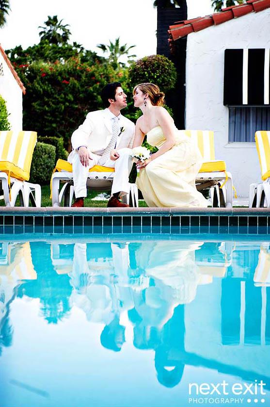 viceroy palm springs pool wedding