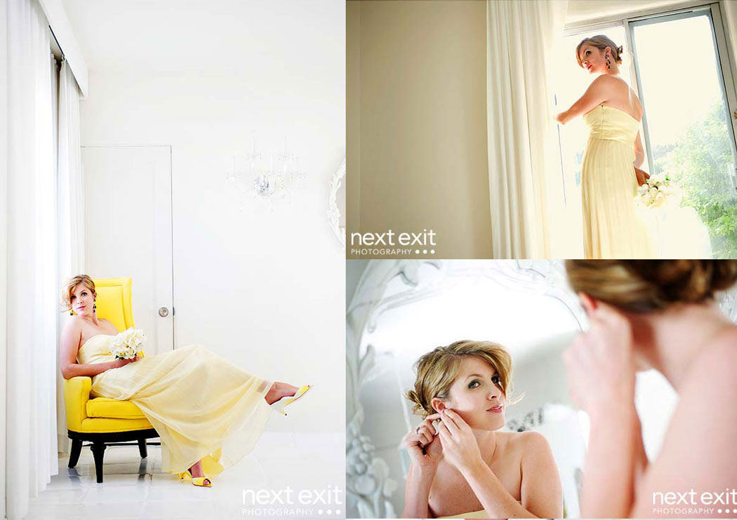 yellow bride portrait