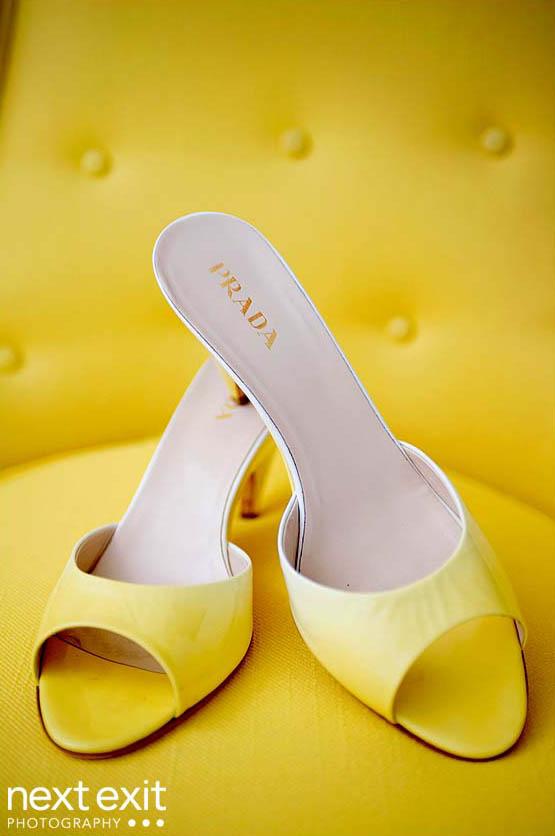 yellow prada shoes