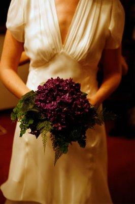 little winter bride purple bouquet