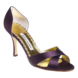 purple manolo blahnik