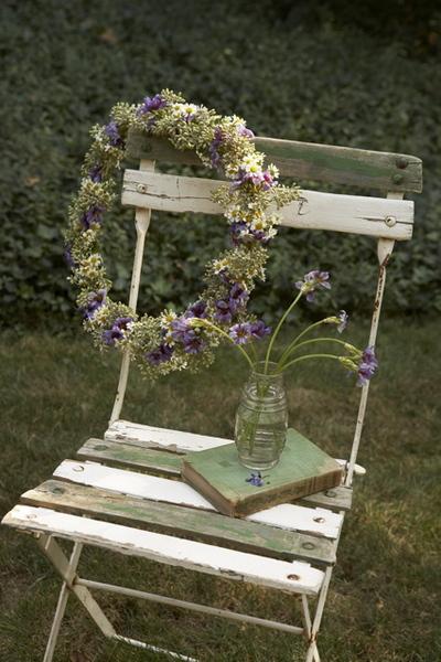 rustic purple floral