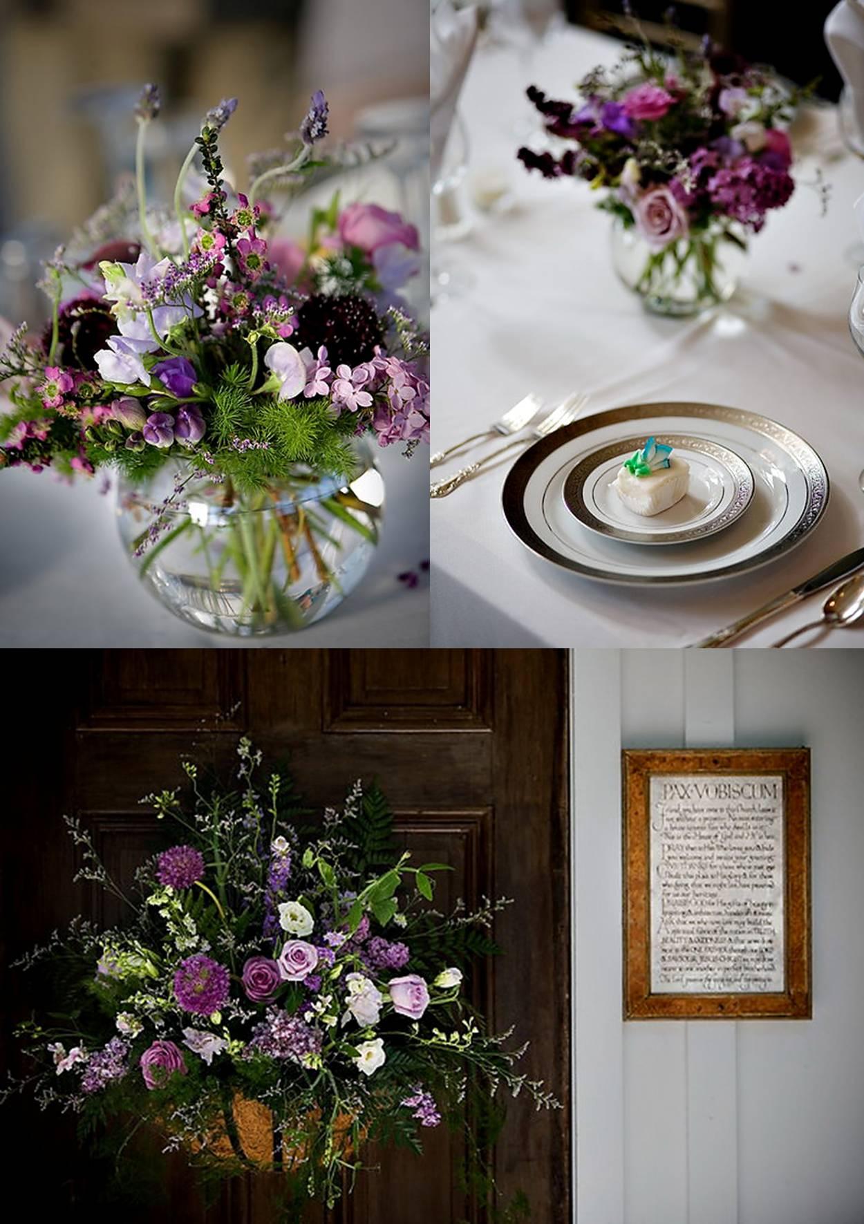 purple wedding floral 2