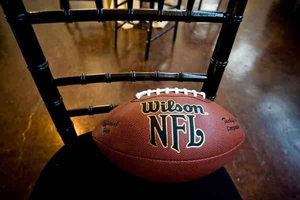 football on chair
