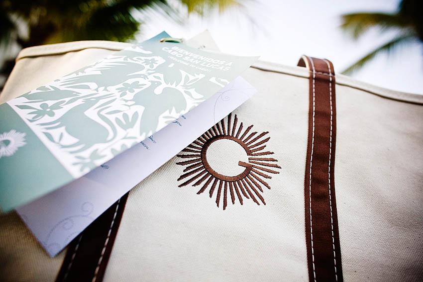 welcome bag for destination wedding