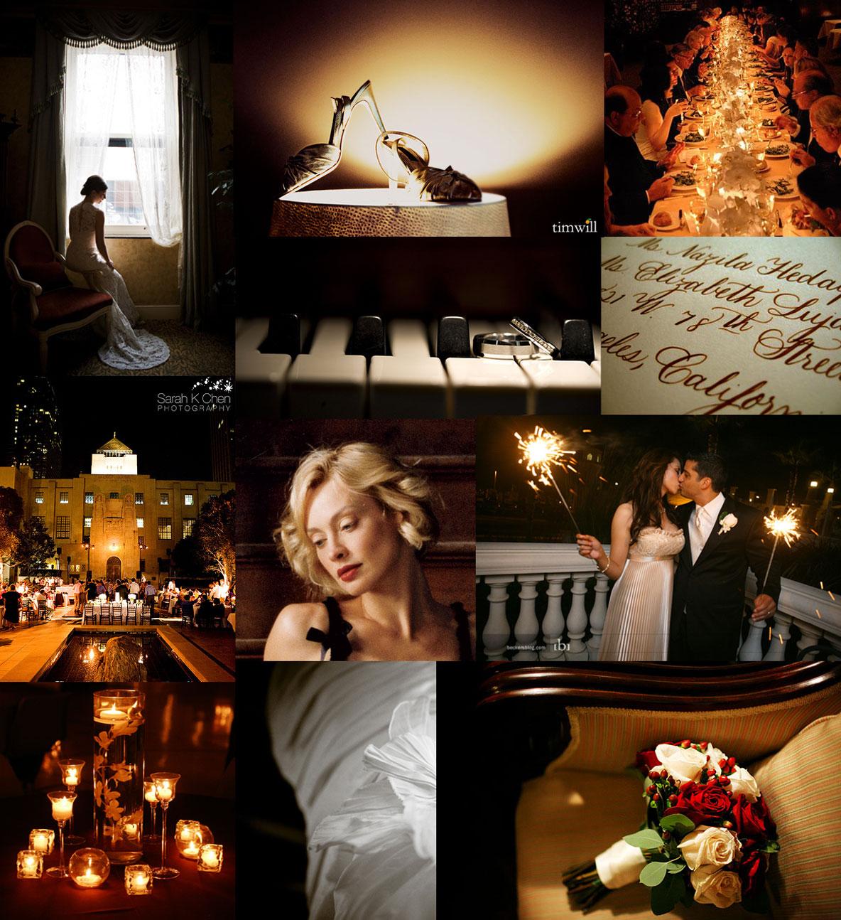 dark red wedding inspiration board