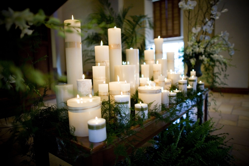 ceremony candle decor