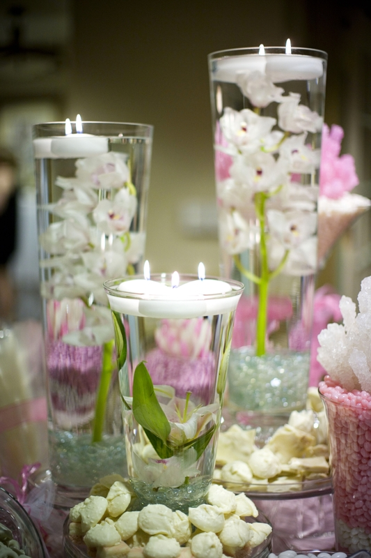 candy buffet floral