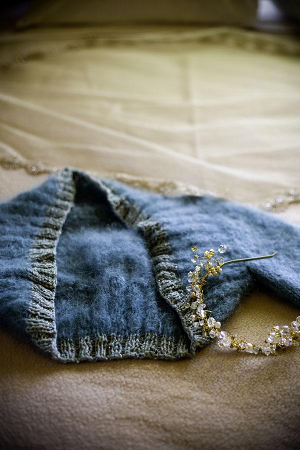 hand-knit wedding shrug
