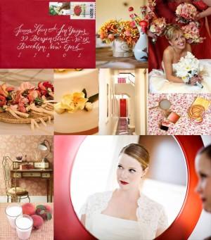 Peach-Red-Wedding-Inspiration-Board