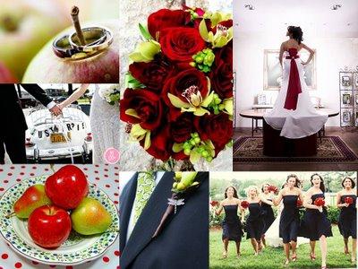 apple wedding inspiration board