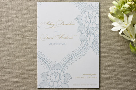 minted baroque save the dates