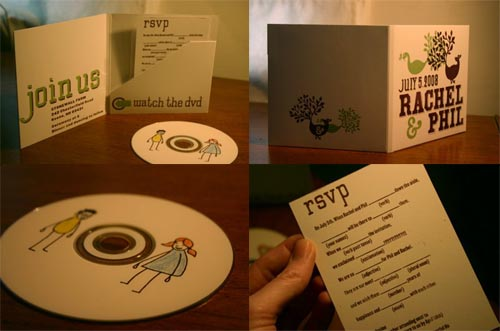 dvd wedding invitation