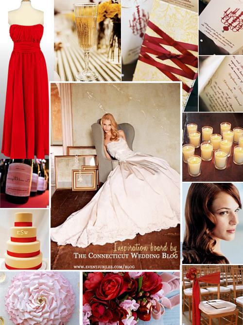 red purple gold inspiration board