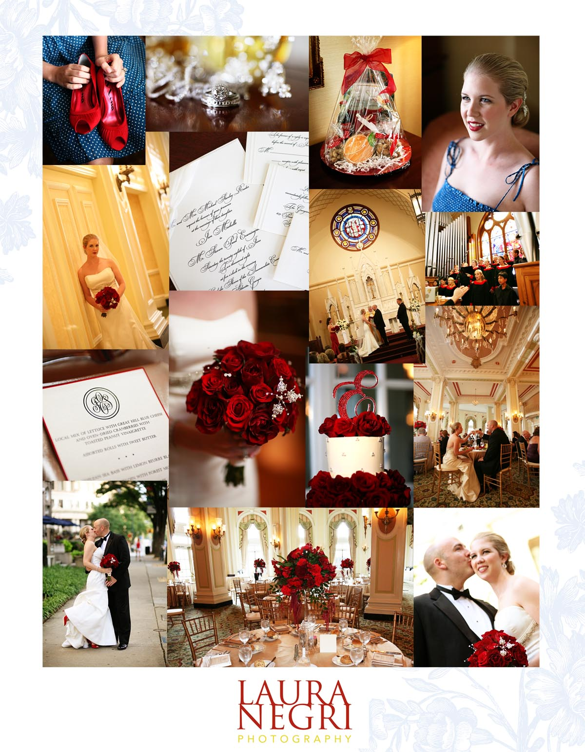 red and gold wedding