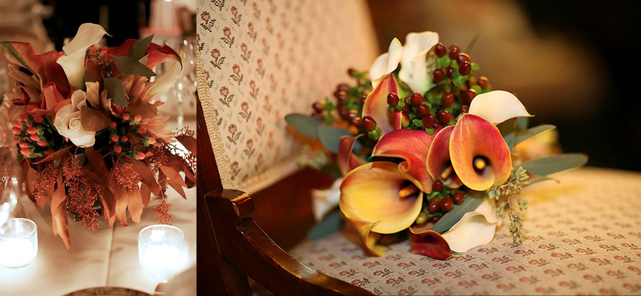 autumn wedding floral
