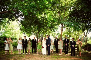mismatched-green-bridal-party