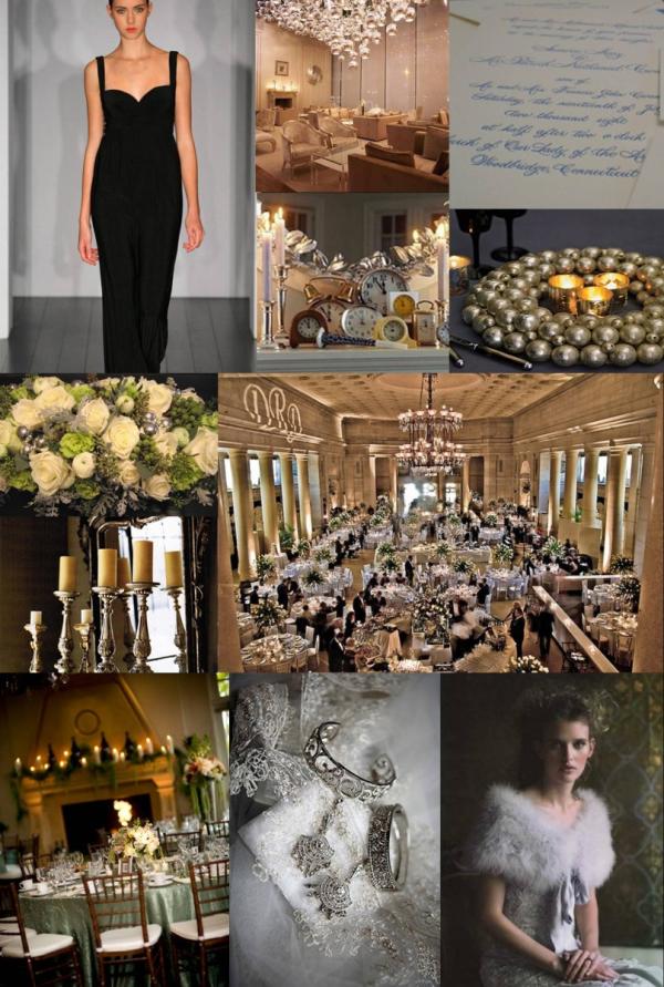 Navy, Green, and Metallic New Years Wedding - Elizabeth ...