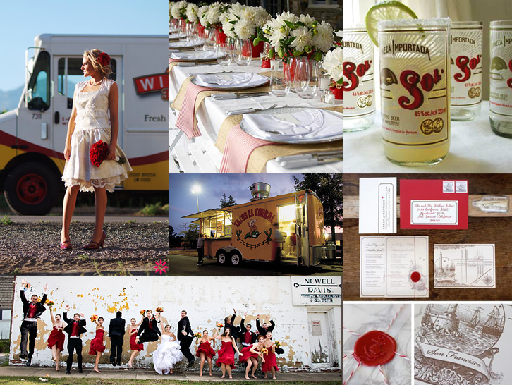 latin american red lime wedding mexico