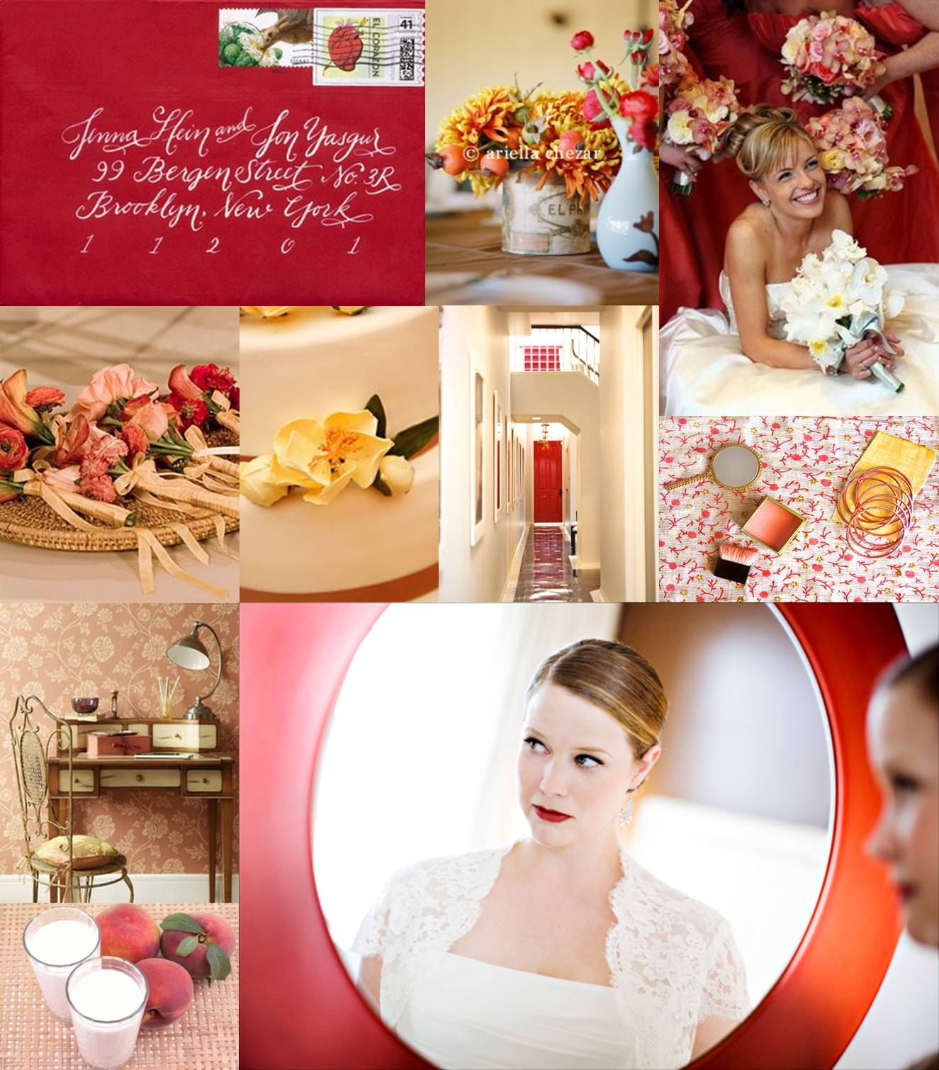 Favorite board red and peach elizabeth anne designs - Peach and red combination ...