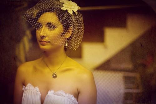 Bride-in-Birdcage-Veil