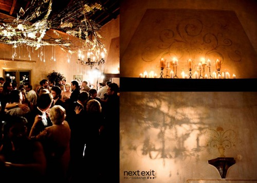 Crystal and Candle Wedding Decor