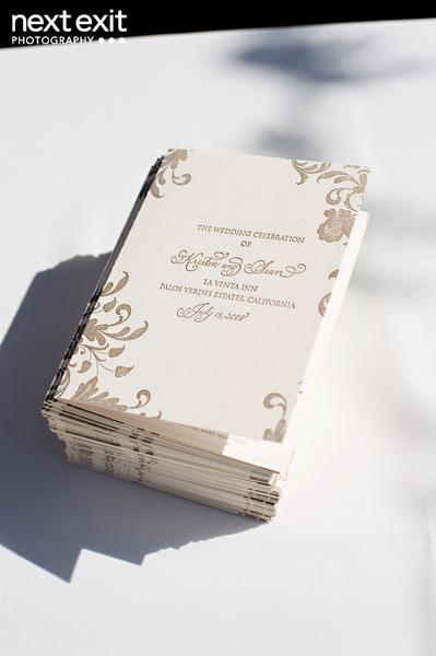 gold letterpress program covers elizabeth anne designs the