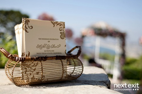 Gold-Letterpress-Wedding-Programs