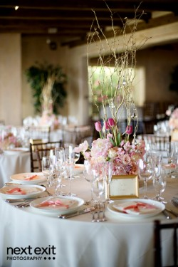 Pink-Tulip-and-Branch-Centerpiece
