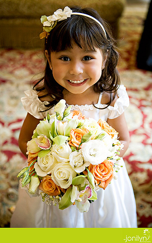 flower girl custom twigs and honey hairpiece