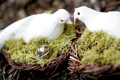 birdsnest ring pillow