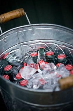 Vintage-Coca-Cola-Bottles-in-Tub