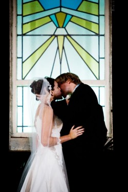 Wedding Ceremony Restored Window Backdrop