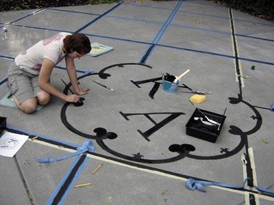 diy painted dance floor