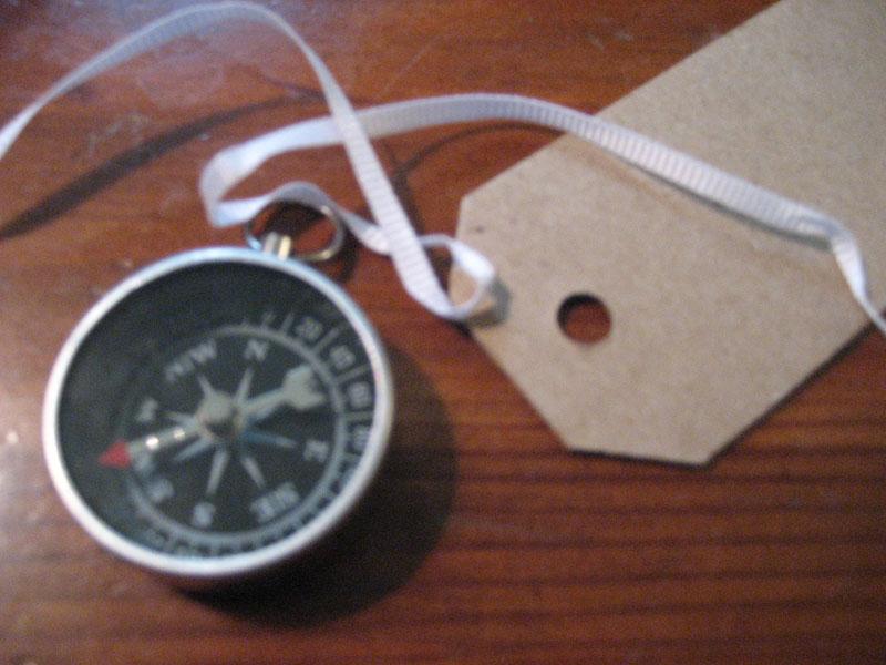 diy compass escort cards